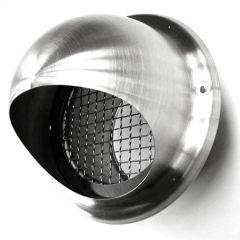 Bolrooster RVS Ø 125mm met grofmazig gaas - hoge doorlaat
