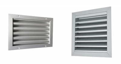 Buitenluchtrooster aluminium