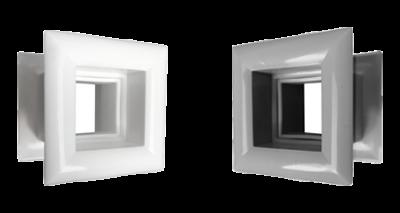 Deurroosters kunststof vierkant