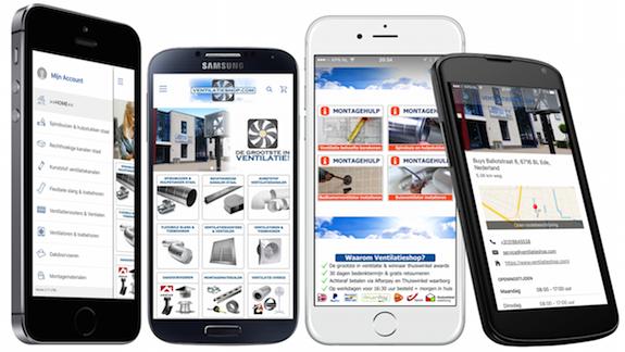 App voor apple en google ventilatieshop.com